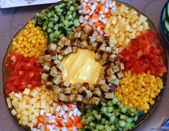 Простые рецепты салатов с
